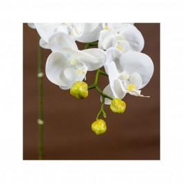 Dirbtinė gėlė orchidėja (balta)