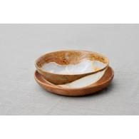 Komplektas: Onikso dubenėlis ant medinio padėklo