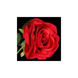 Dirbtinė gėlė-Rožė aksominė,3 žiedai
