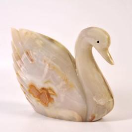 Сувенир лебедь из оникса, 30cm