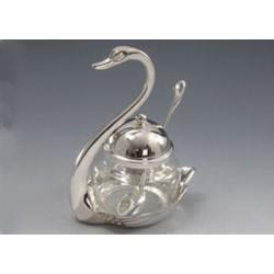 Сахарница «Лебедь» с ложкой